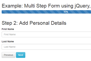 multi step form with jquery