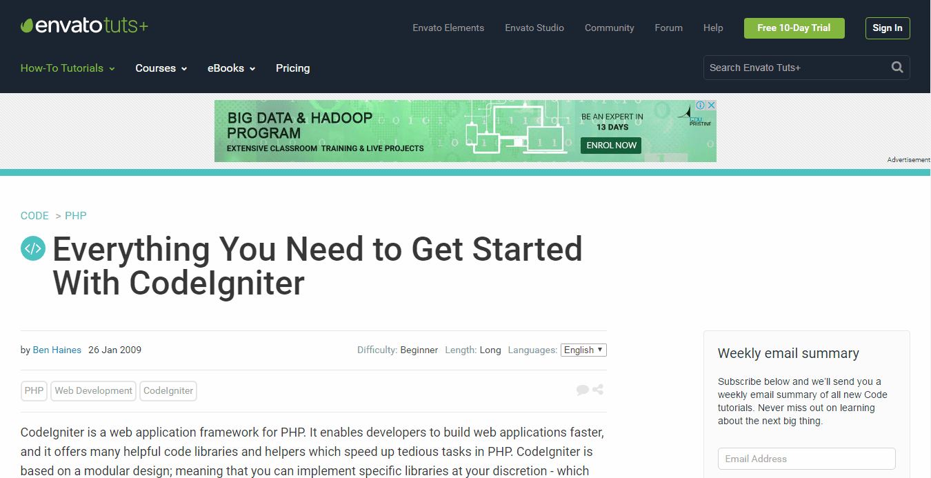 Everything You Need to Get Started With CodeIgniter-min