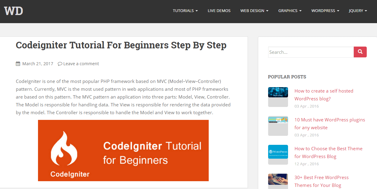 Step By Step Codeigniter Tutorial For Beginners